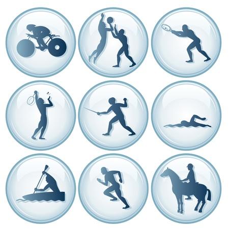 esgrima: Iconos de Deportes Ol�mpicos. Vector Set 3