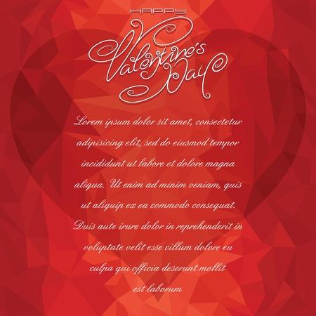Valentine Card Backdrop. Vector Illustration Vector