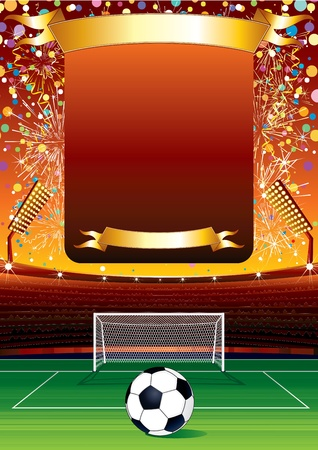 grandstand: Vector Football Background