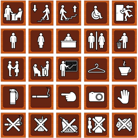 man and women wc sign: Vector Door Signs  Illustration
