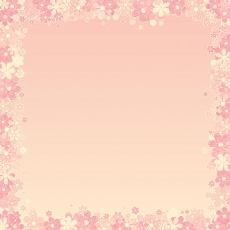 Résumé Rose Floral Illustration Vecteur de fond,