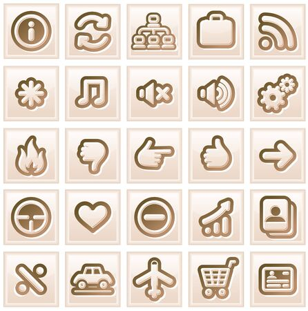 Retro Stylized Interface Icons  Vector Collection  2 Stock Vector - 13510484