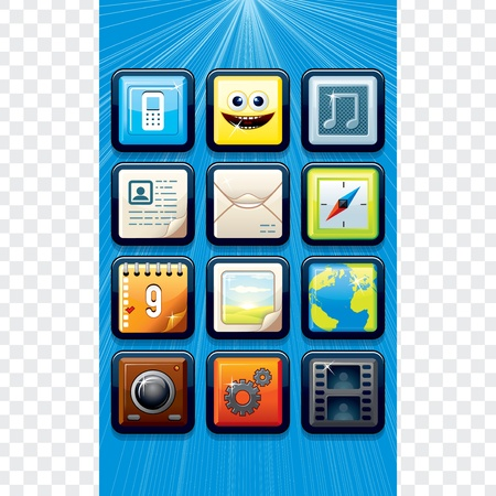 Touchscreen Phone Interface Design  Detailed Vector Illustration Vector