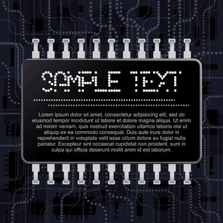 Enregistrez-vous sur la technologie Chip Circuit Historique Vecteur Conseil