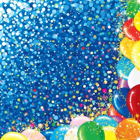 parade confetti: Celebraci�n de fondo Vector de colores