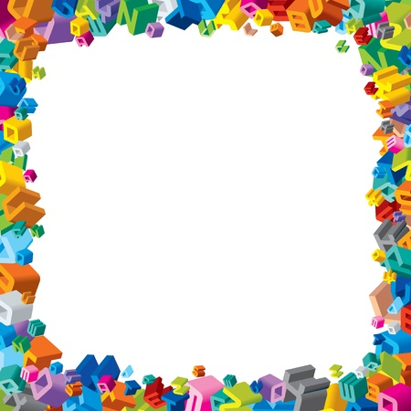 Frame from Colorful Letters Vector