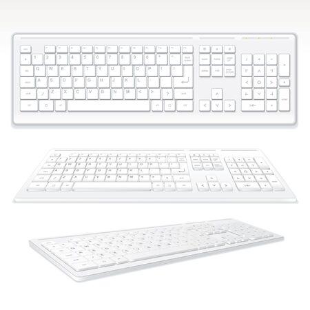 Modern Computer Keyboards, vector illustration Vector
