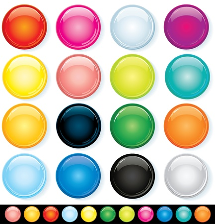 Buttons, Icons Template, Multicolored  Vector Design Elements Vector