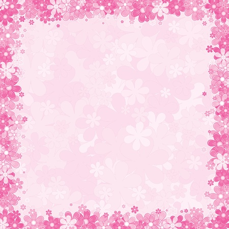 wed beauty: Soft Pink Floral Background, Vector Template for your Text or Design