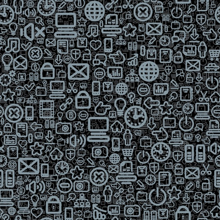 Seamless Technology Pattern  Vector Image Vector