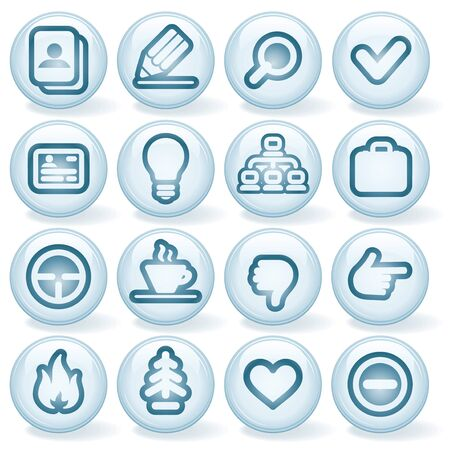 Vector Interface Shiny Round Icons  Set  1  Stock Vector - 13572929
