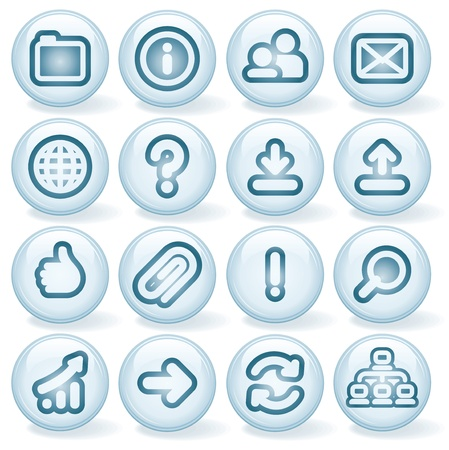 Vector Interface Shiny Round Icons  Set  2 Stock Vector - 13572927