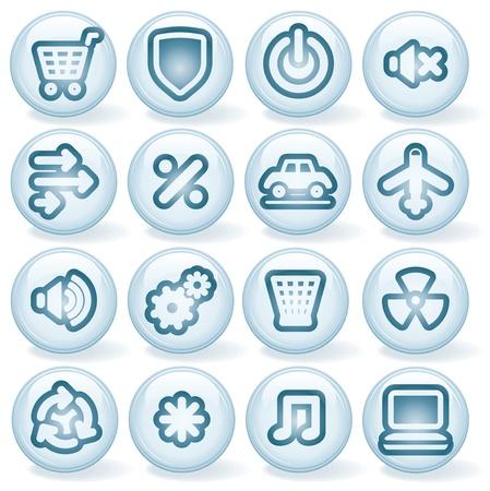 mute: Vector Interface Shiny Round Icons  Set  5  Illustration