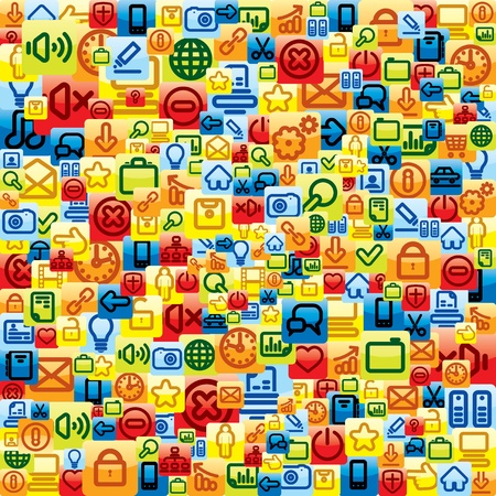 Social Media Pattern  Vector Background Vector