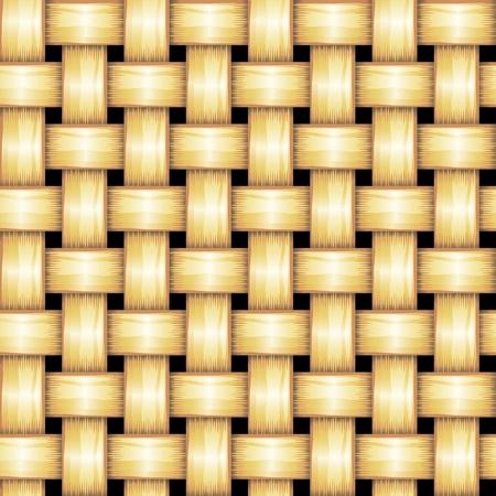 hand woven: Seamless Rattan Pattern  Vector Illustration