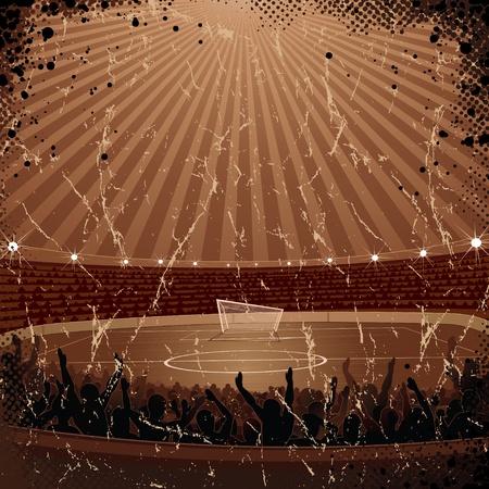 Grunge Soccer Background. Vector Poster Vector