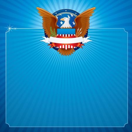 fbi: Vector Background avec American Eagle