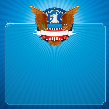 president of usa: Vector Background with American Eagle