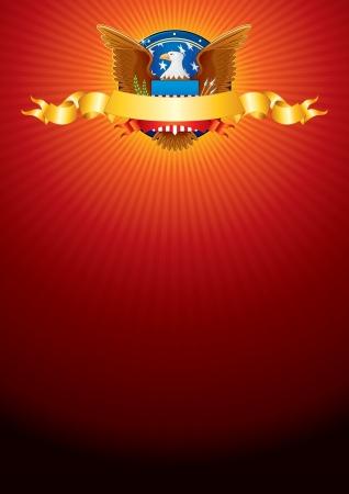 aigle royal: Vector Background lumineux avec American Eagle