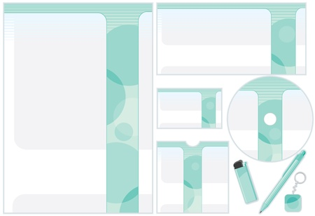 producing: Customizable Design Templates for Producing Your Print Products  Vector Kit Illustration
