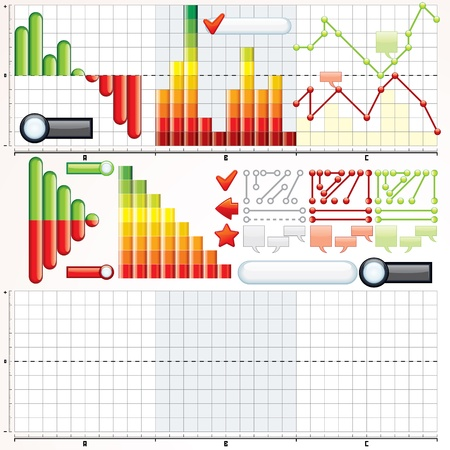 financial year: Collection of Variety Business Graphs, Diagrams  Vector Kit for Your Design and Presentation