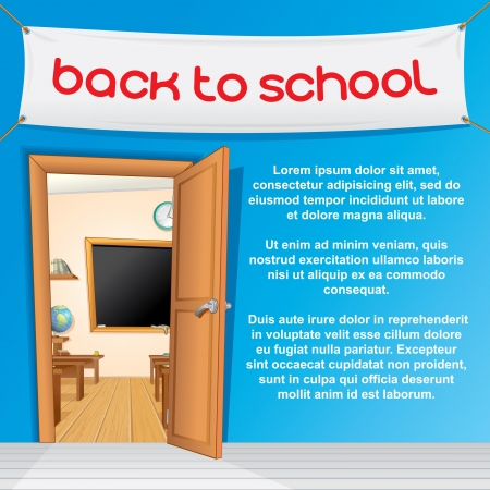 Vector Illustration of Classroom Background Vector