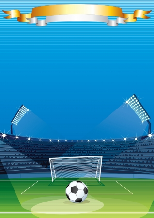 olympic stadium: Football Sport Background Illustration