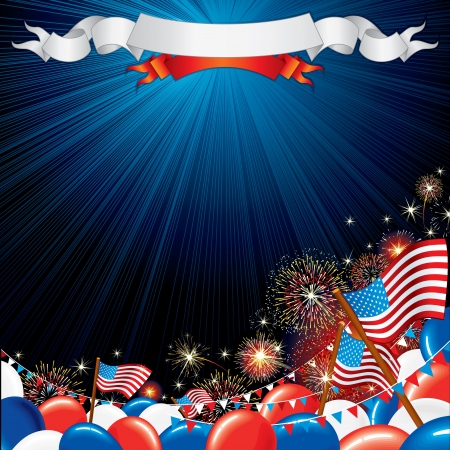 parade: Fourth of July Vector illustration