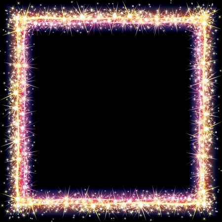 Bright Frame with Sparkles and Flares  Vector Illustration Stock Vector - 15061155