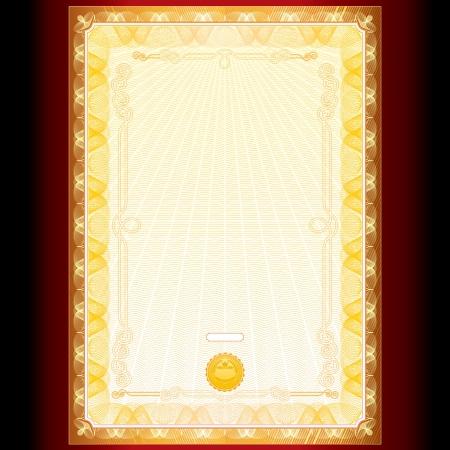Royal Golden modèle vecteur diplôme Banque d'images - 15061133