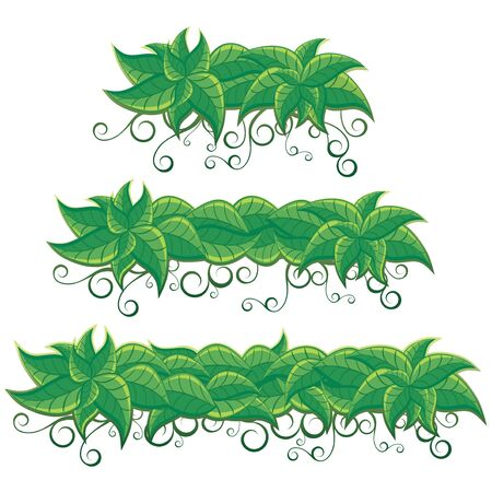 Nature Banners from Green Leaves Stock Vector - 15061241