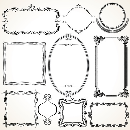 Ornamental Frames  Vector Design Elements Stock Vector - 15061201
