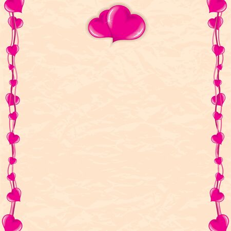 Romantic Vector Background  Valentines Day Vintage Card Stock Vector - 15061223