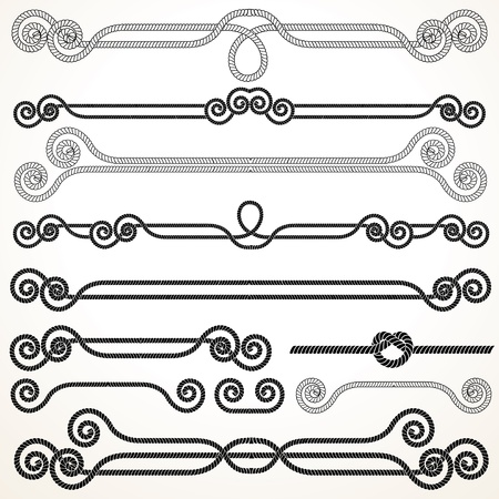 simply: Rope Ornaments  Decorative Vector Design Elements  Illustration