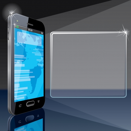 Background with Smart Phone  Vector Illustration for your text and design Stock Vector - 15061205