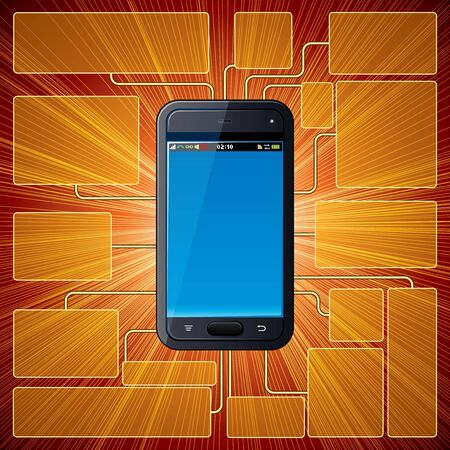 Vector Smartphone Background Stock Vector - 15061242