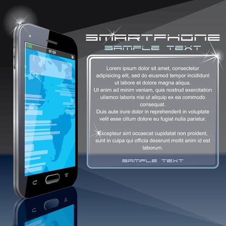 Design Background with Smart Phone  Vector Illustration for your text and design  Vector