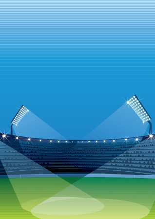 soccer stadium: Stadium Vector Background Illustration