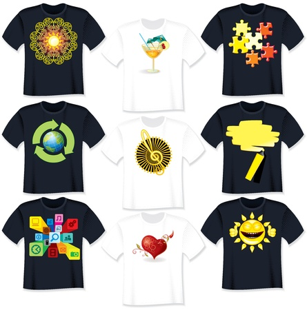 T Shirt designs  Vector Illustration Vector
