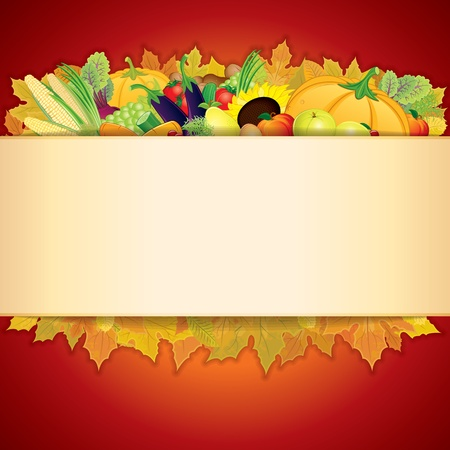 Thanksgiving Celebration Illustration   Stock Vector - 16446685