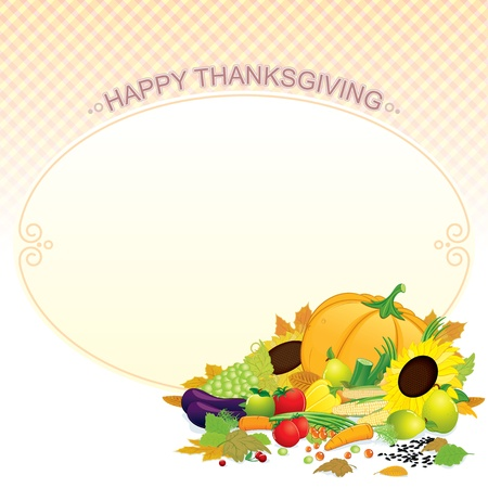 Happy Thanksgiving  Retro Vector