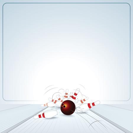 boliche: Bowling Strike Ball bater nas Skittles