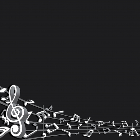 Abstract Music Background  Vector Image Vector