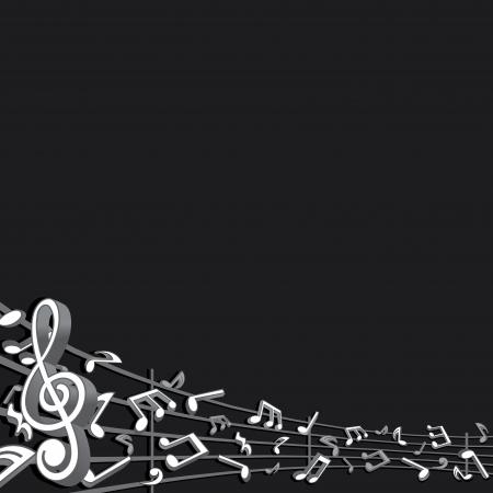 abstract music: Abstracte muziek achtergrond vector afbeelding