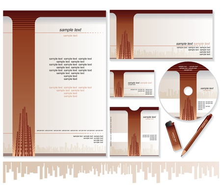 Business Card, Brochure, Envelope Design Templates Vector