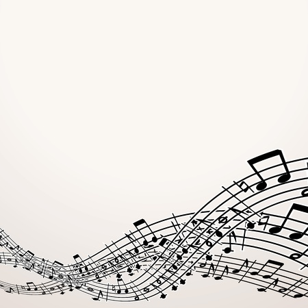 Musical Background  Vector Image with Free Space Vector
