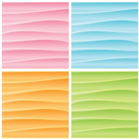 Set of Abstract Wavy Backgrounds  Vector Graphics Stock Vector - 17697873
