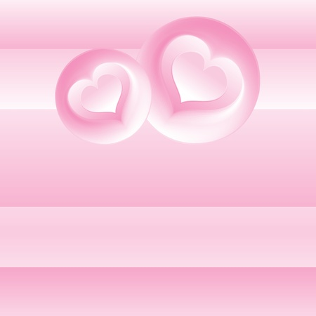 Pink Romantic Background  Vector Template Stock Vector - 17919130