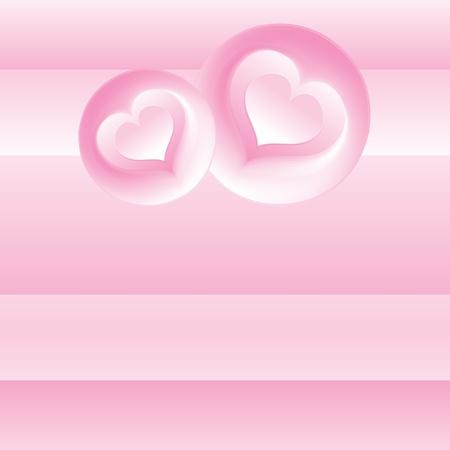 Pink Romantic Background  Vector Template Stock Vector - 17919130