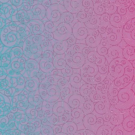 turquoise swirl: Retro Ornamental Pattern  Vector Design Background